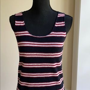 Summer Knit Tank in Navy, Red, White